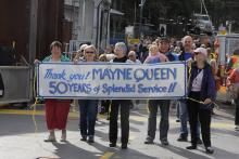 Saturna Residents show appreciation for their ferry